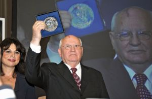 Martin Buber plaque awarded to M Gorbachev